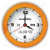 Orange Citrus Vector Clock