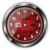 Red Rumba Vector Clock